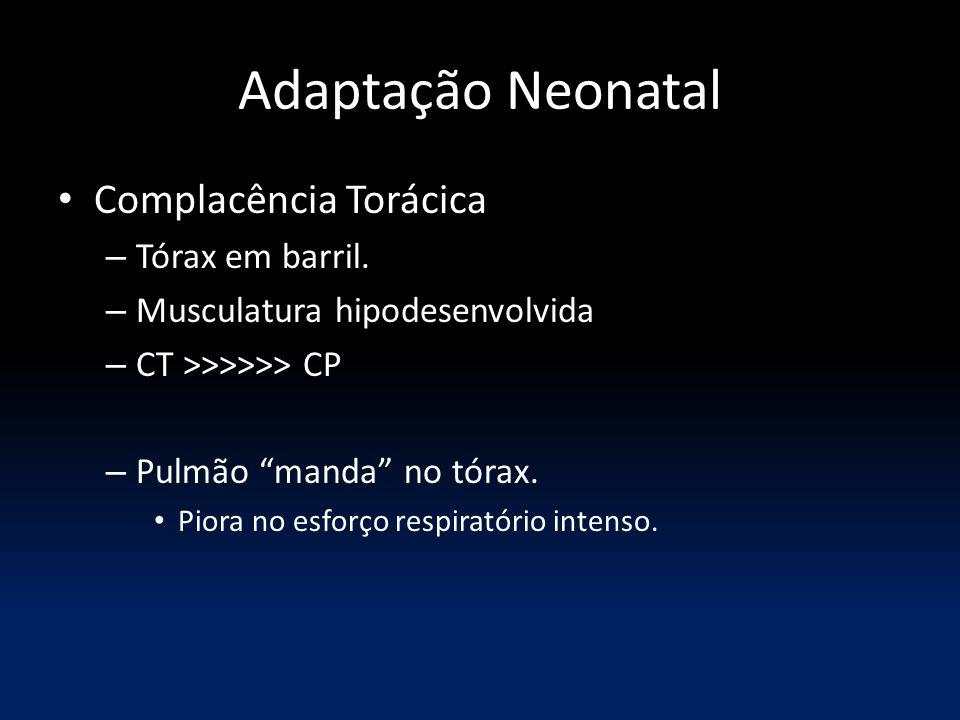 Adaptação Neonatal Complacência Torácica Tórax em barril.