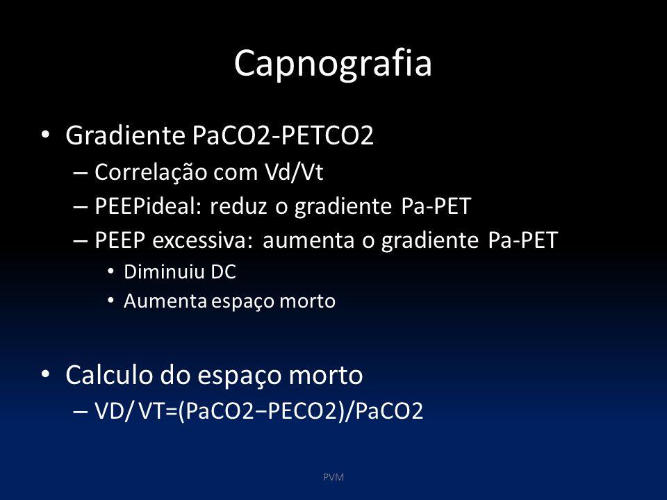 Capnografia Gradiente PaCO2-PETCO2 Calculo do espaço morto