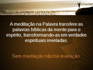 Sem meditação não há revelação.