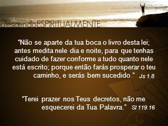 Terei prazer nos Teus decretos, não me esquecerei da Tua Palavra.
