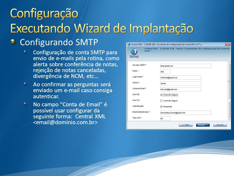 Configuração Executando Wizard de Implantação