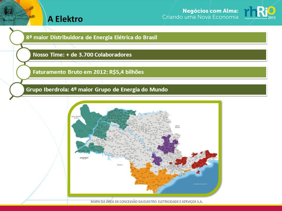 MAPA DA ÁREA DE CONCESSÃO DA ELEKTRO ELETRICIDADE E SERVIÇOS S.A.