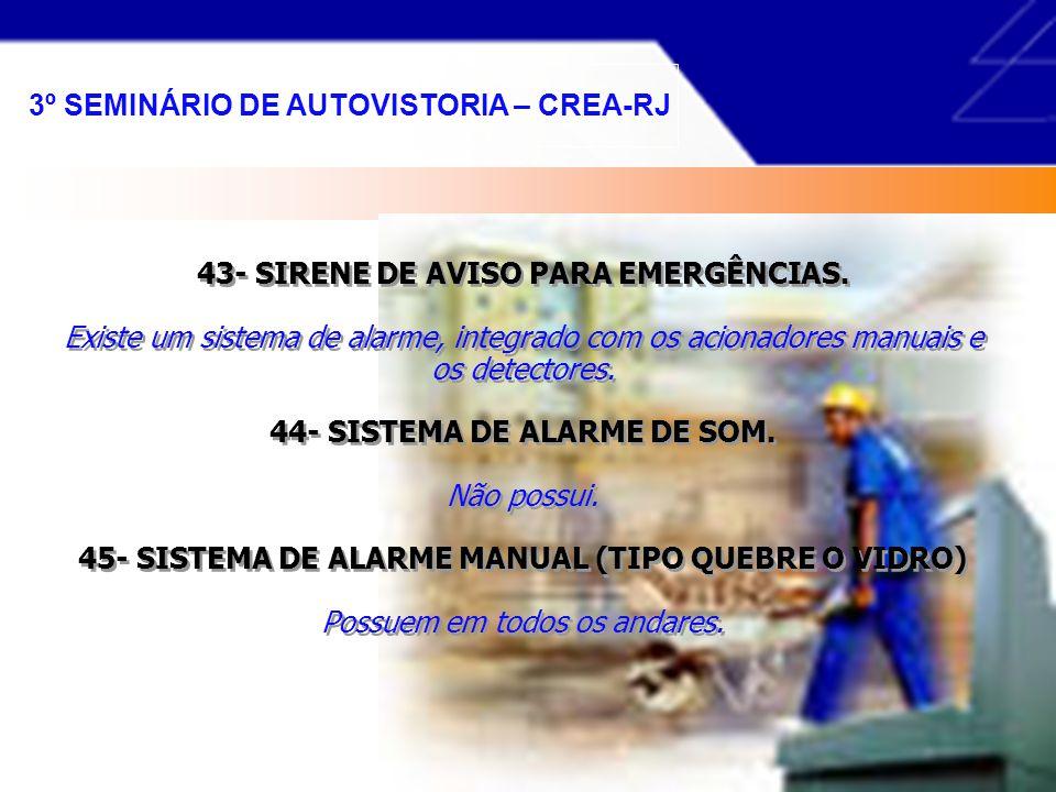 3º SEMINÁRIO DE AUTOVISTORIA – CREA-RJ