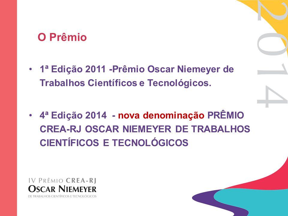 O Prêmio 1ª Edição 2011 -Prêmio Oscar Niemeyer de Trabalhos Científicos e Tecnológicos.