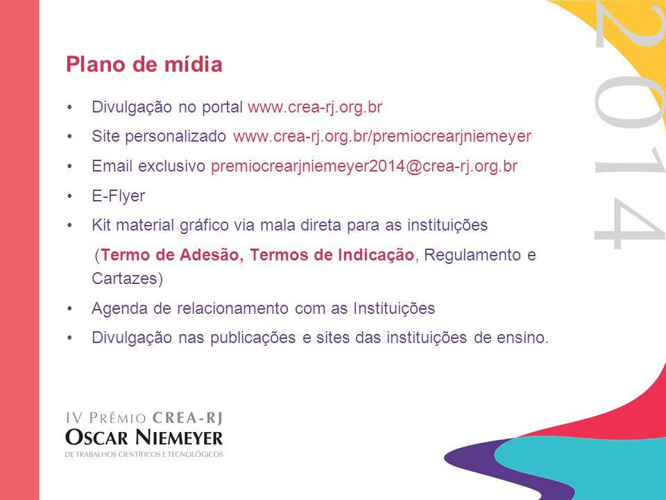 Plano de mídia Divulgação no portal www.crea-rj.org.br