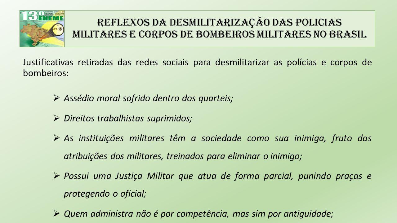 Reflexos da Desmilitarização das Policias Militares e Corpos de Bombeiros Militares no Brasil
