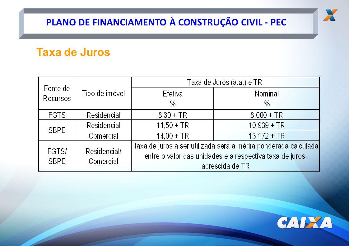 PLANO DE FINANCIAMENTO À CONSTRUÇÃO CIVIL - PEC