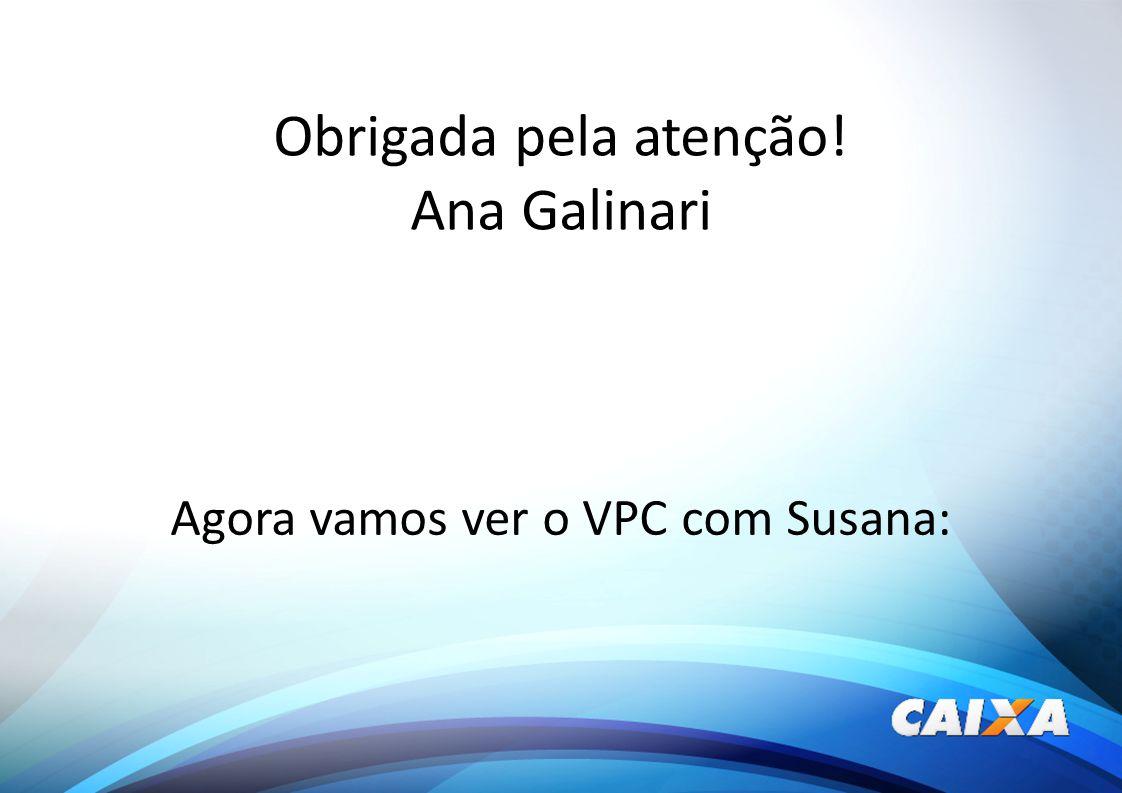 Obrigada pela atenção! Ana Galinari