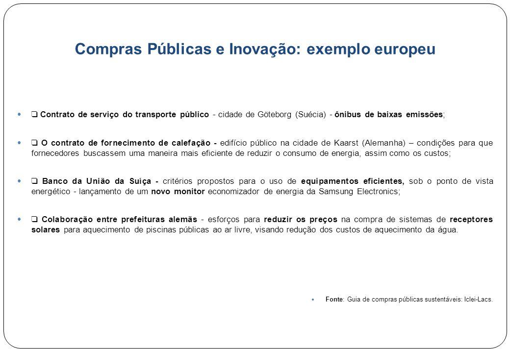 Compras Públicas e Inovação: exemplo europeu