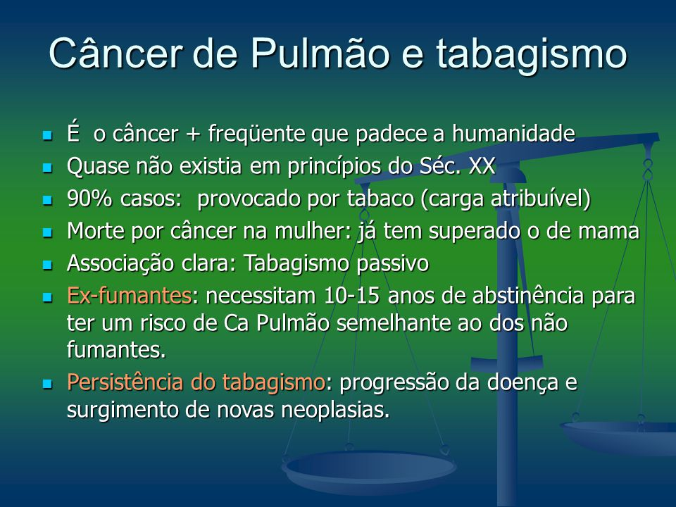 Câncer de Pulmão e tabagismo