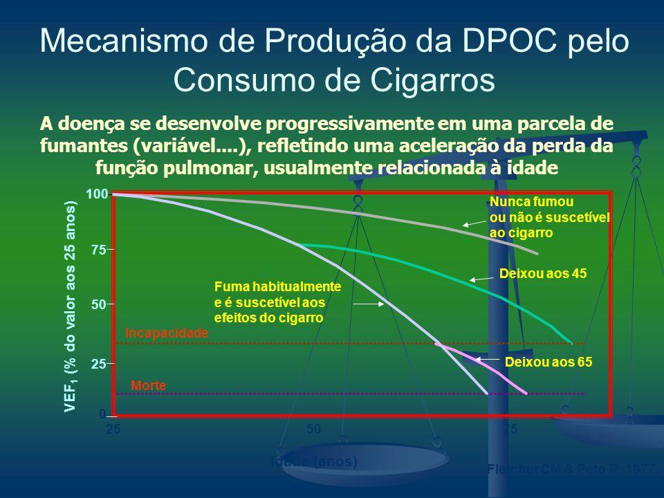 Mecanismo de Produção da DPOC pelo Consumo de Cigarros