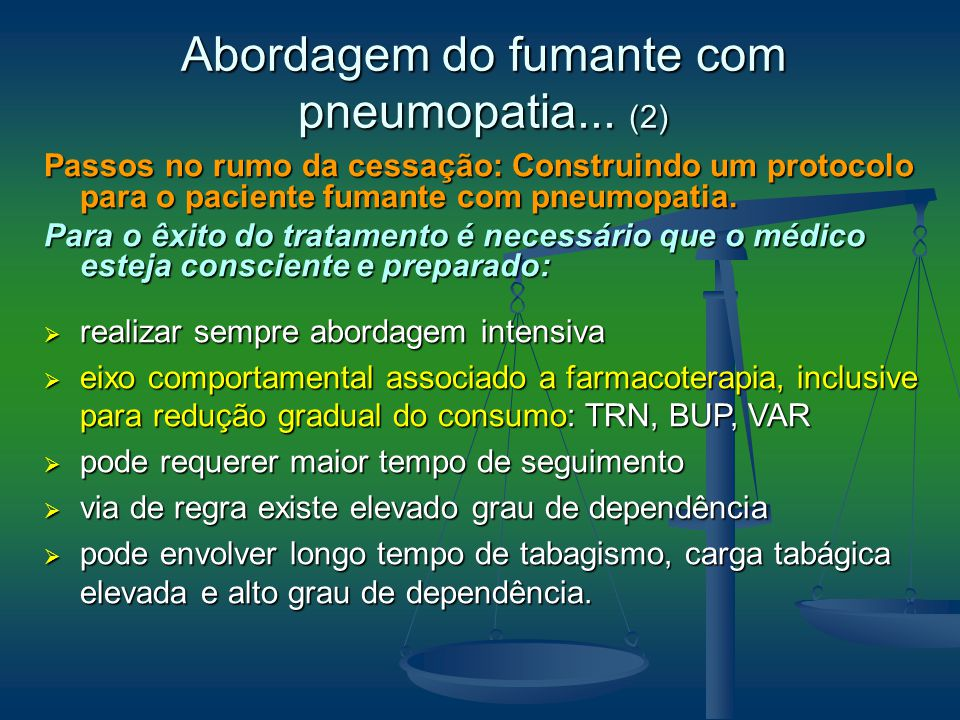 Abordagem do fumante com pneumopatia... (2)