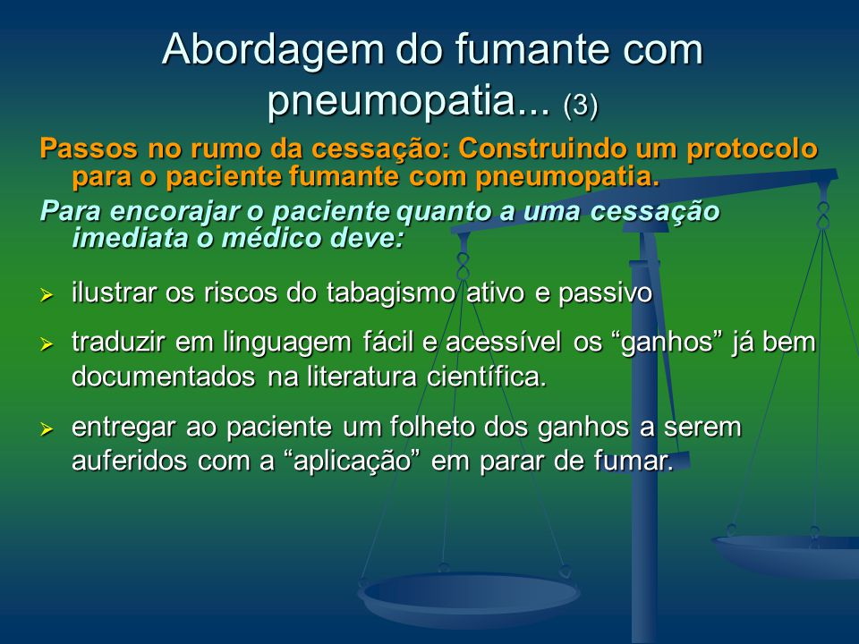 Abordagem do fumante com pneumopatia... (3)