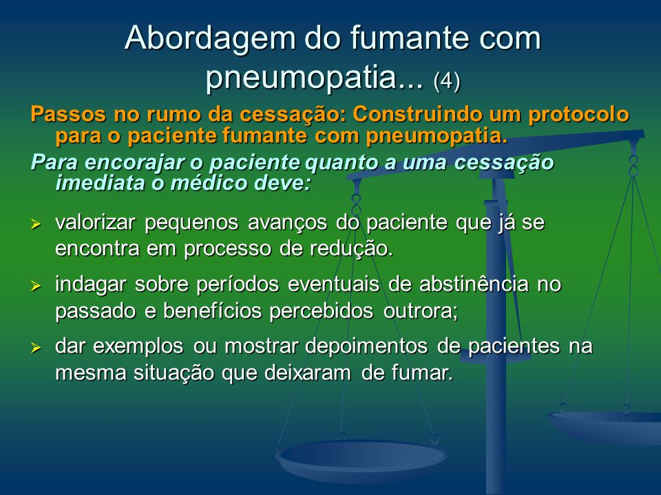 Abordagem do fumante com pneumopatia... (4)