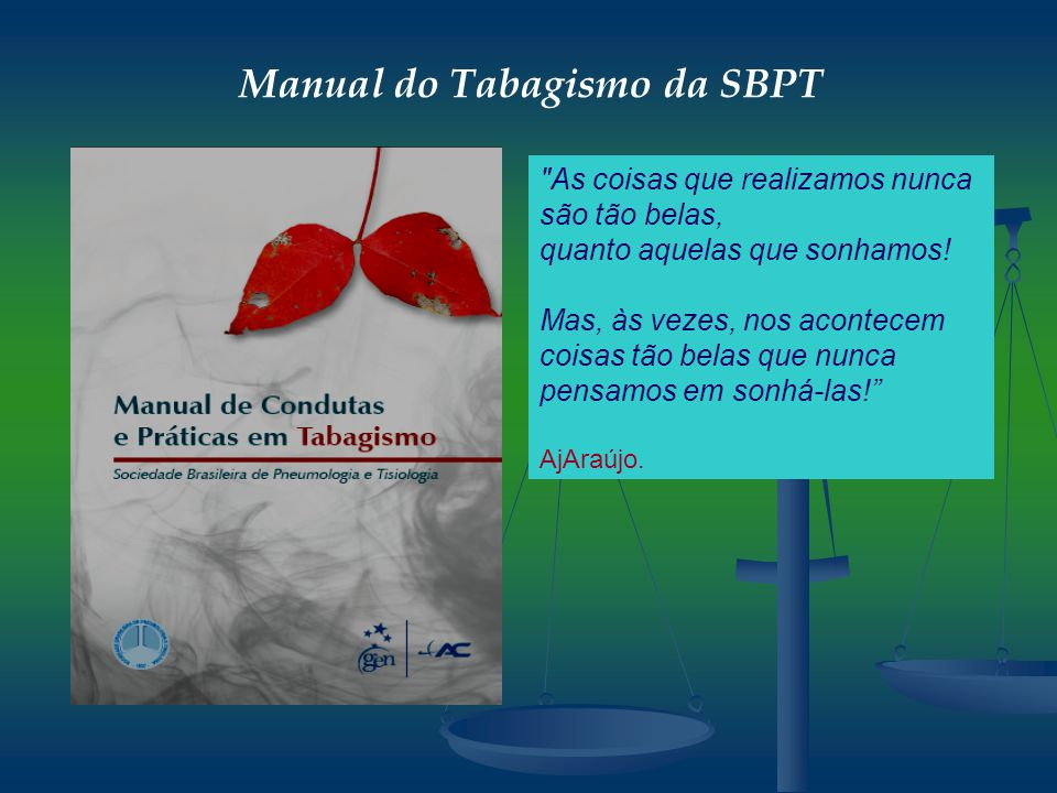 Manual do Tabagismo da SBPT