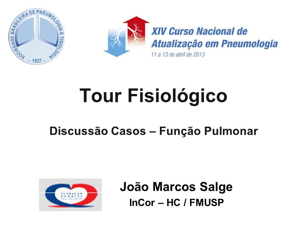 Tour Fisiológico Discussão Casos – Função Pulmonar