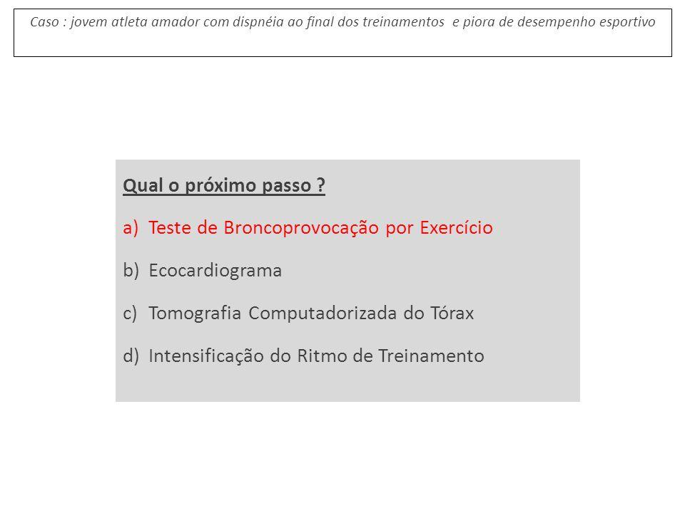 Teste de Broncoprovocação por Exercício Ecocardiograma