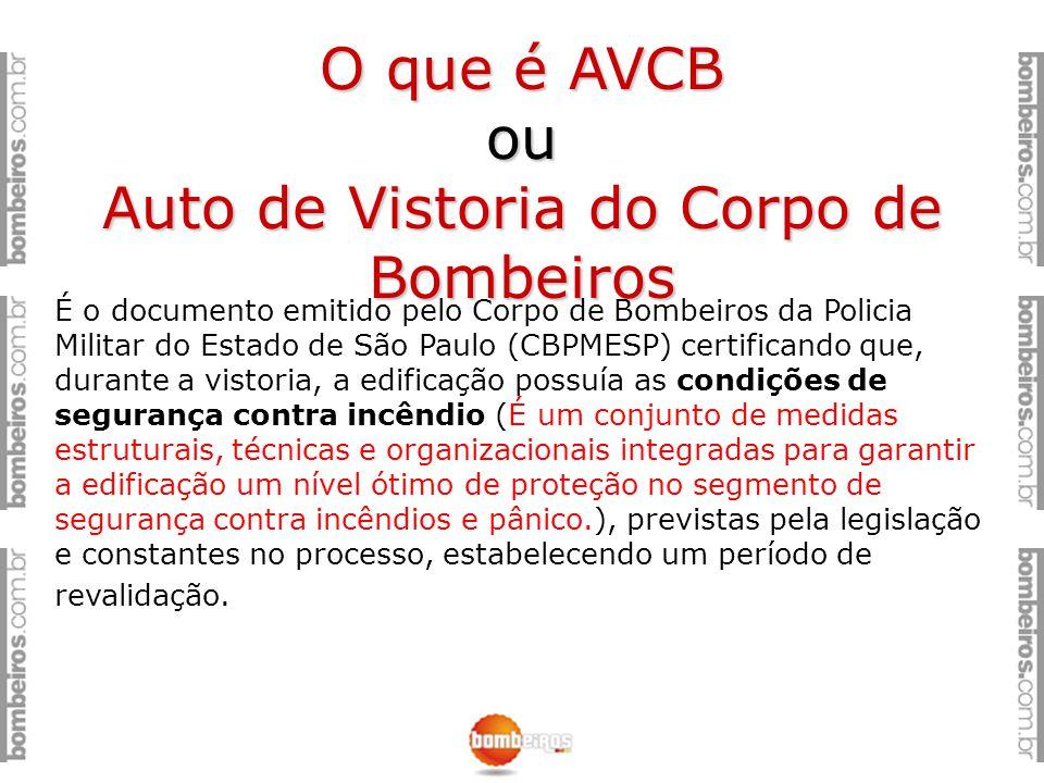 O que é AVCB ou Auto de Vistoria do Corpo de Bombeiros