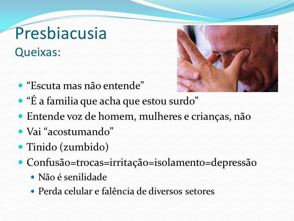 Presbiacusia Queixas: