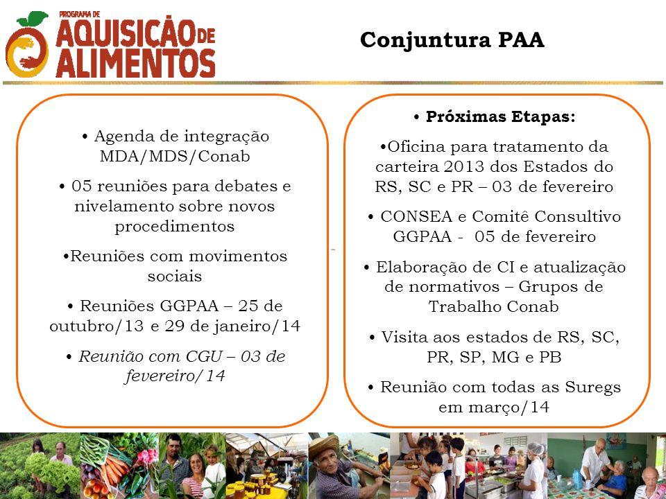 Conjuntura PAA Próximas Etapas: