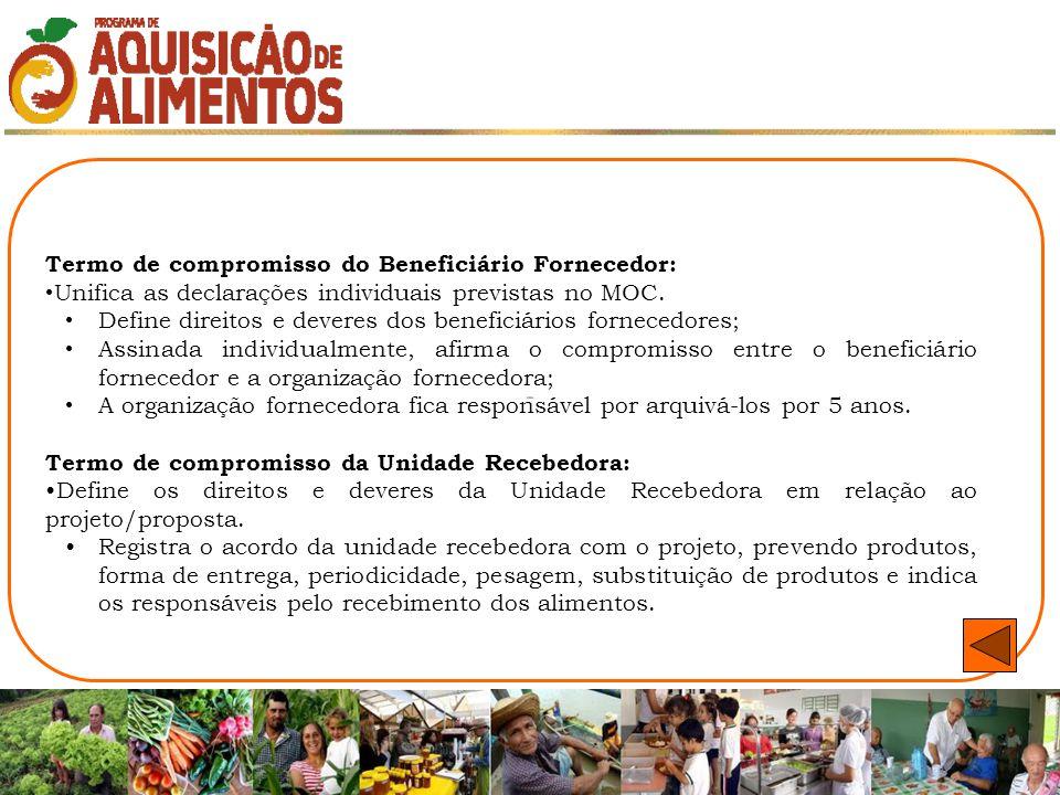 Termo de compromisso do Beneficiário Fornecedor: