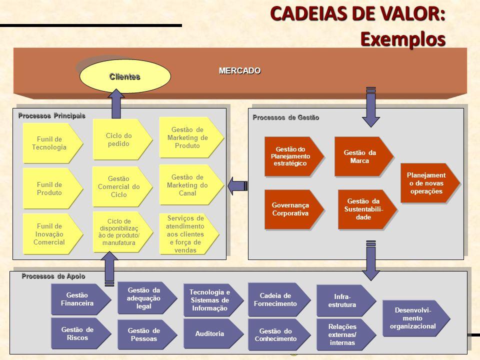 CADEIAS DE VALOR: Exemplos