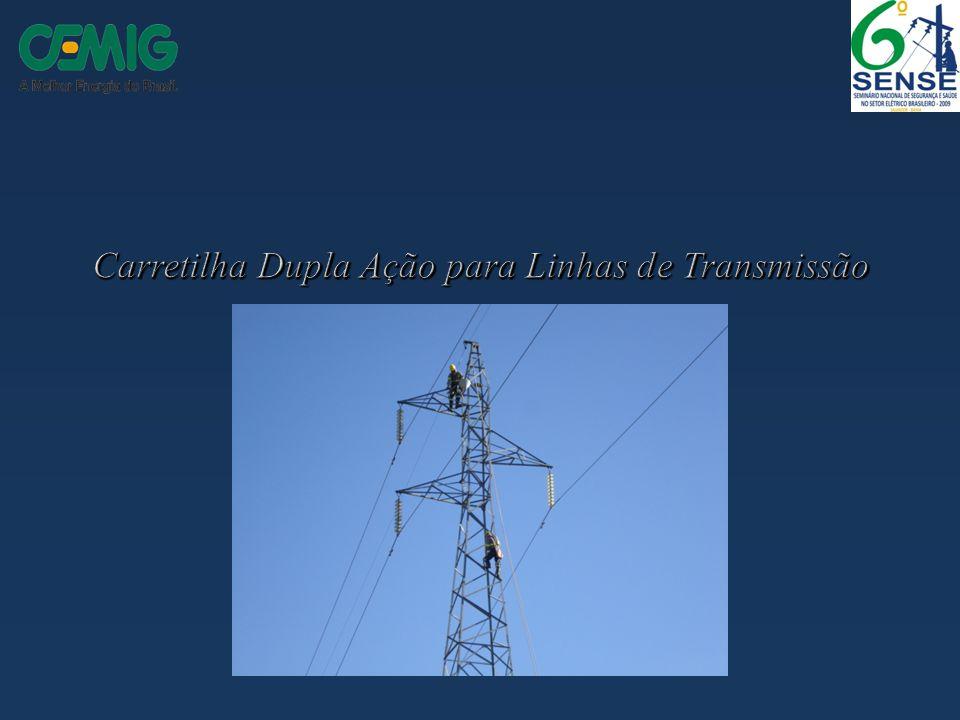 Carretilha Dupla Ação para Linhas de Transmissão