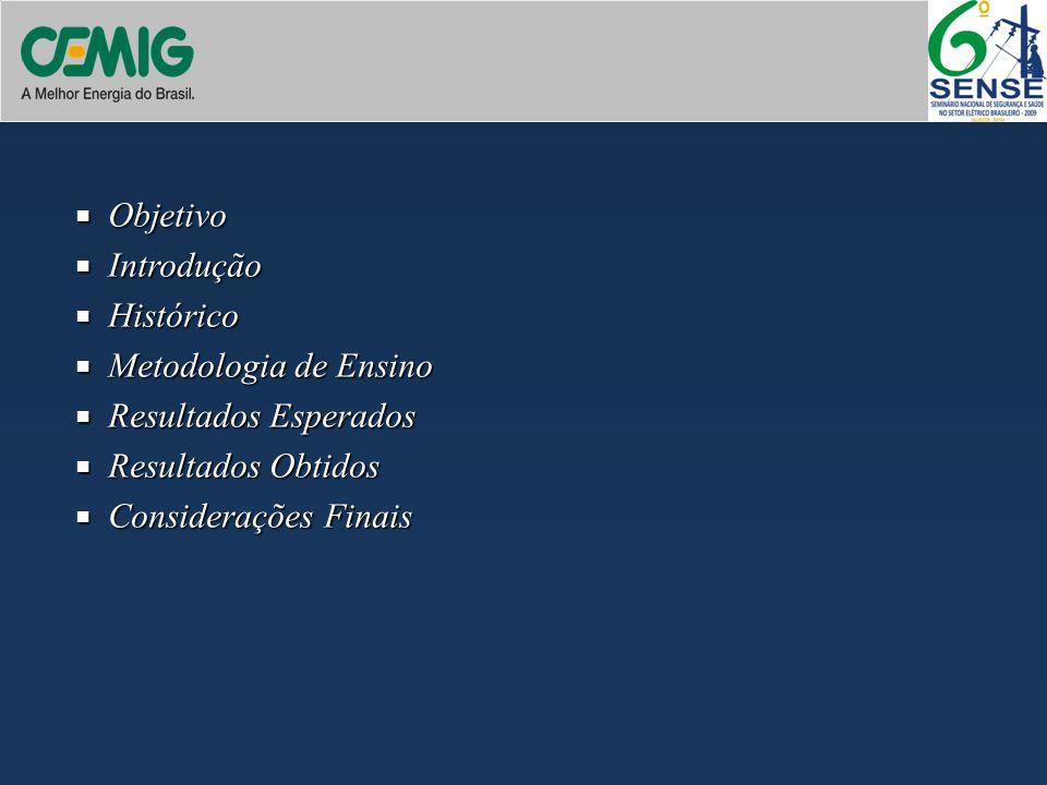 Objetivo Introdução Histórico Metodologia de Ensino