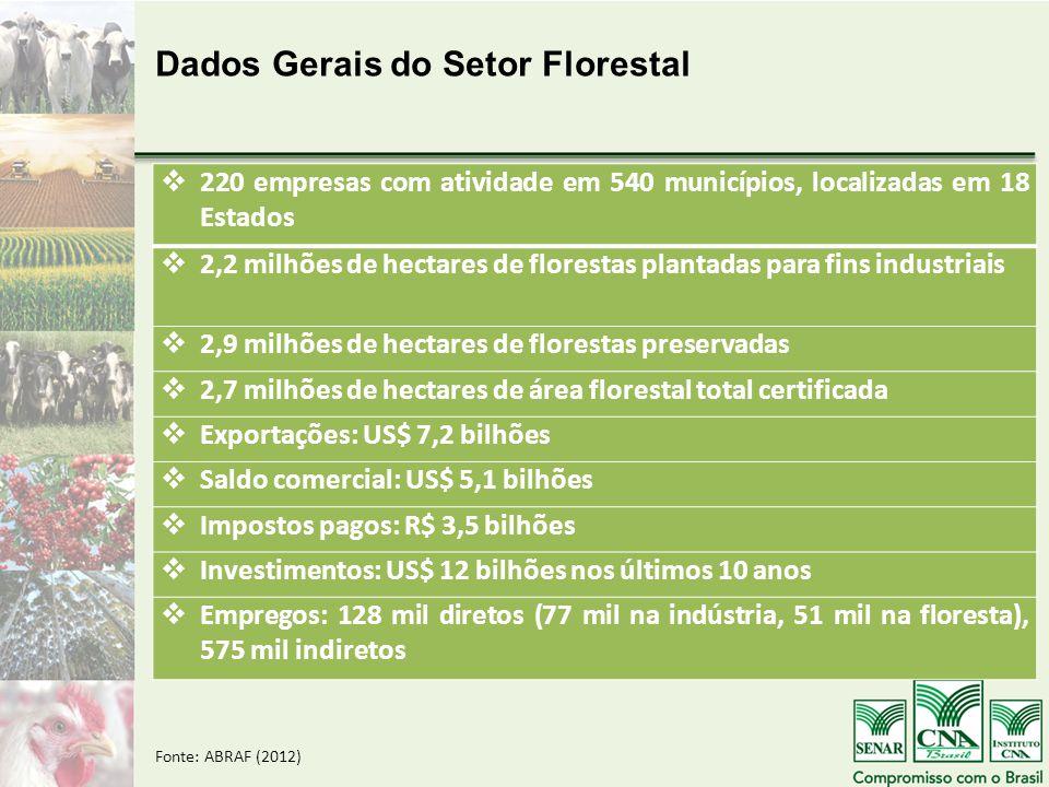 Dados Gerais do Setor Florestal