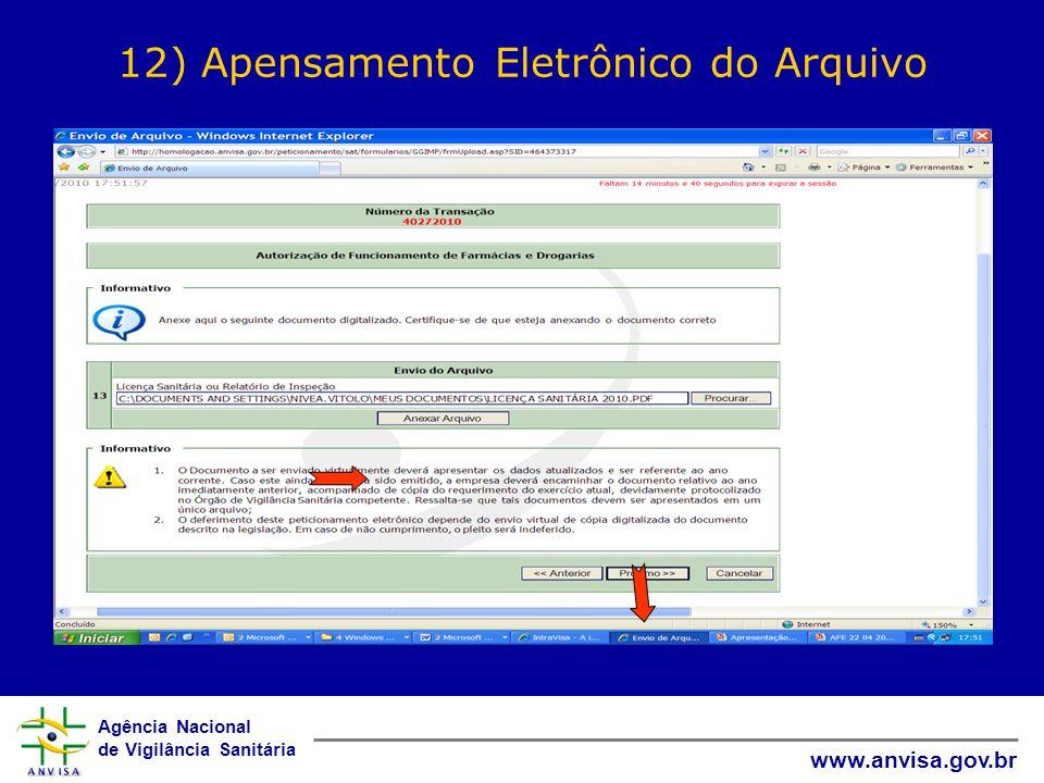 12) Apensamento Eletrônico do Arquivo