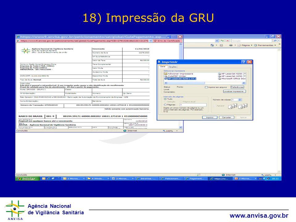18) Impressão da GRU