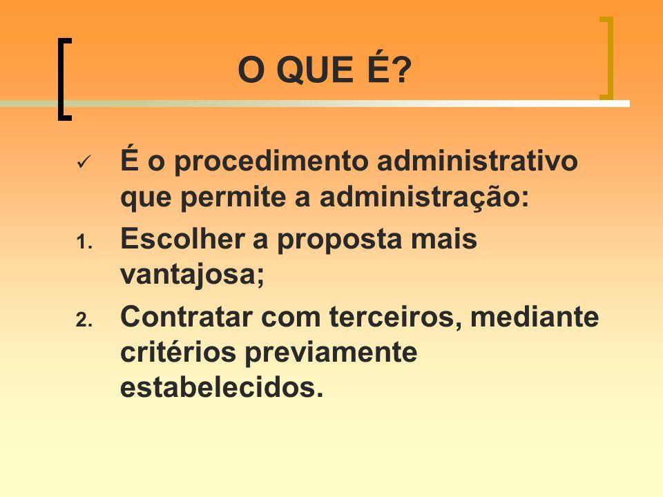 O QUE É É o procedimento administrativo que permite a administração: