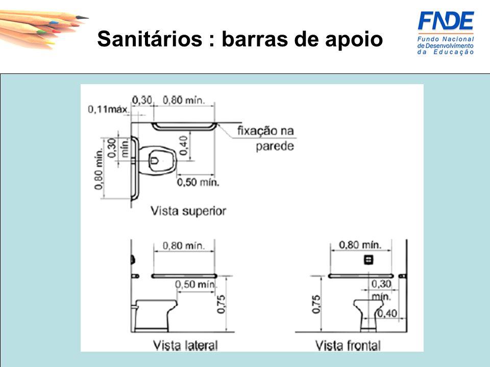 Sanitários : barras de apoio