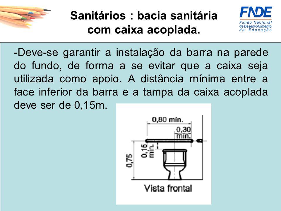 Sanitários : bacia sanitária