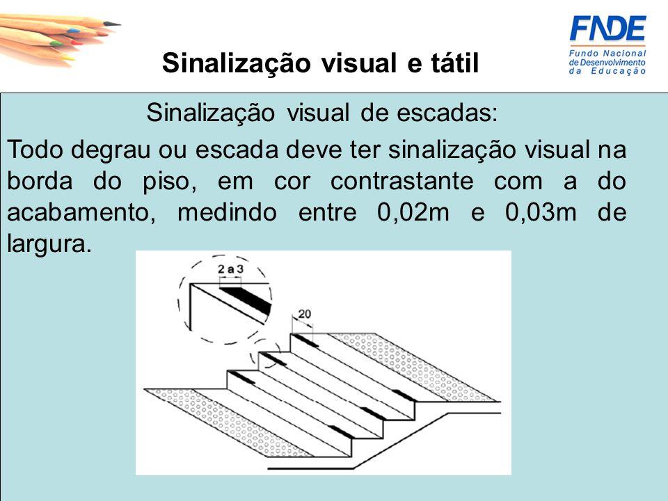 Sinalização visual e tátil
