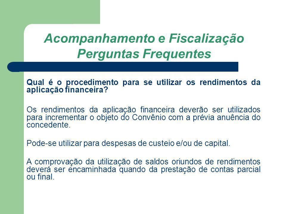 Acompanhamento e Fiscalização