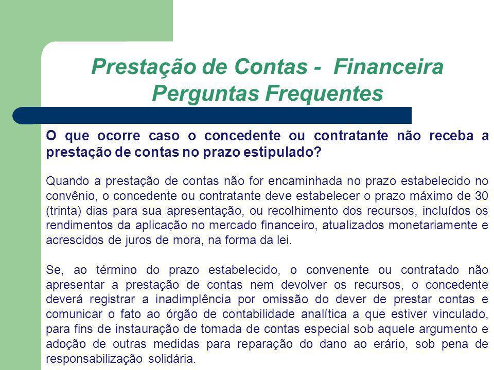 Prestação de Contas - Financeira