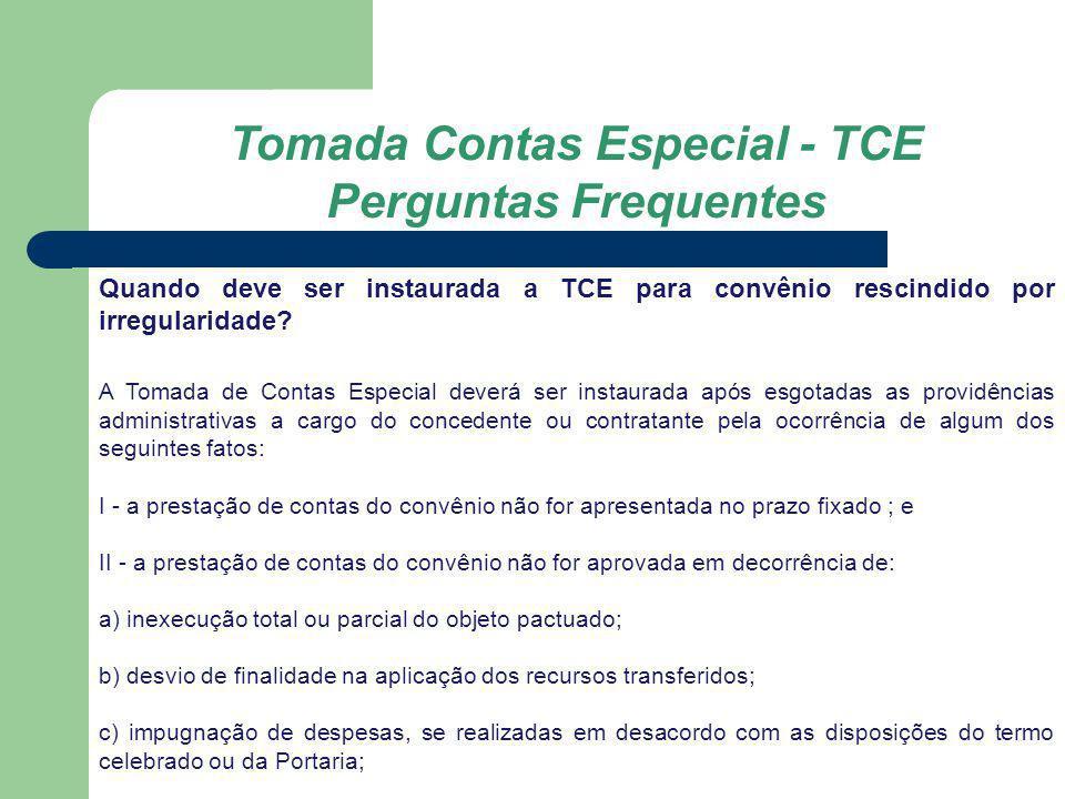 Tomada Contas Especial - TCE