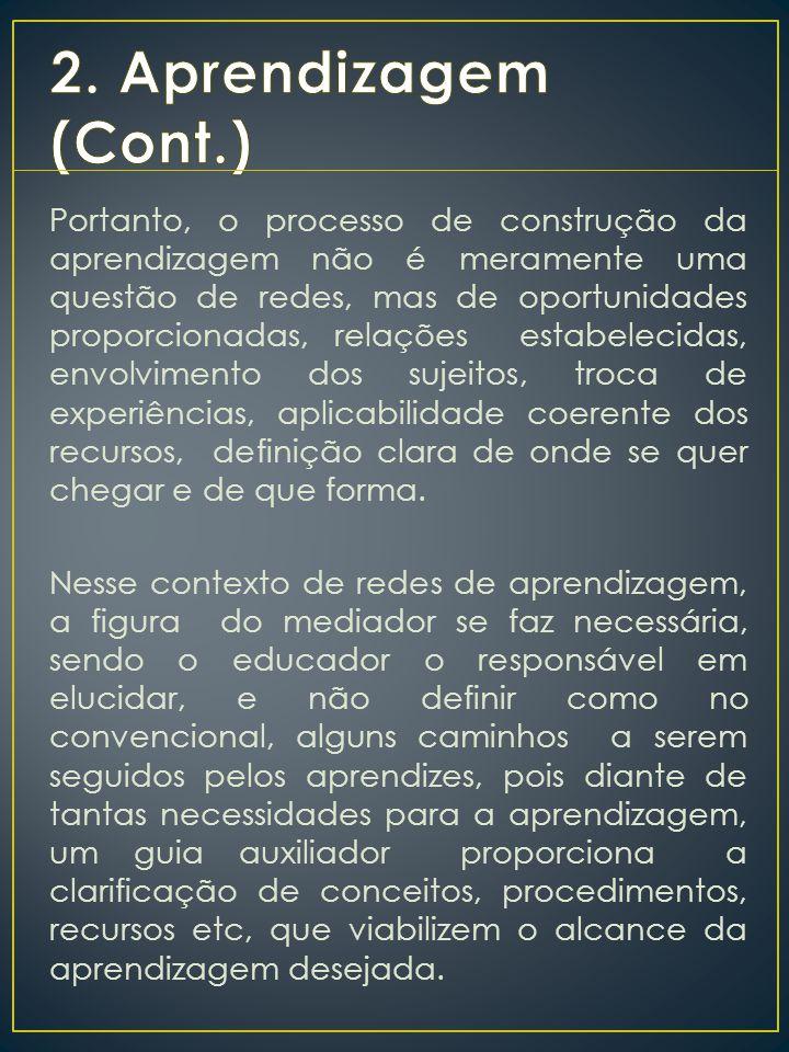 2. Aprendizagem (Cont.)