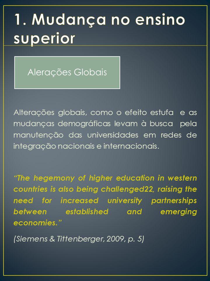 1. Mudança no ensino superior