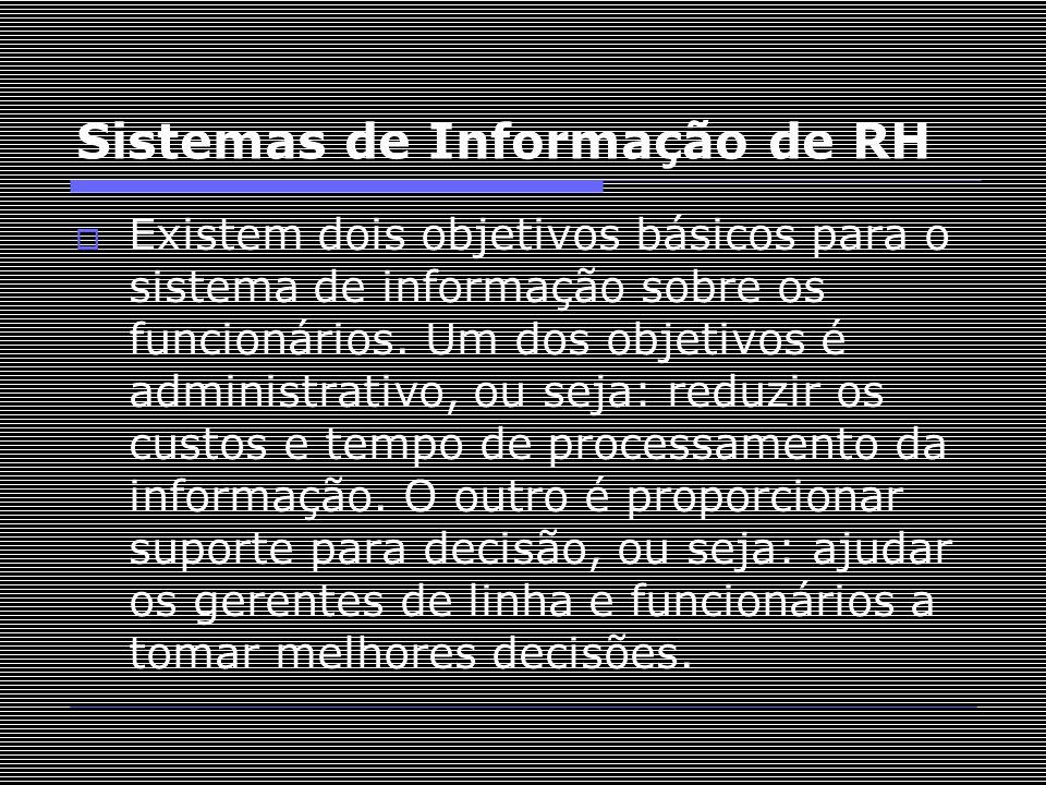 Sistemas de Informação de RH