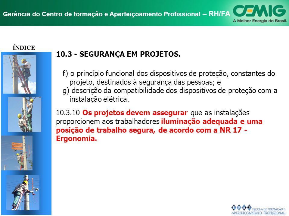 TÍTULO 10.3 - SEGURANÇA EM PROJETOS.