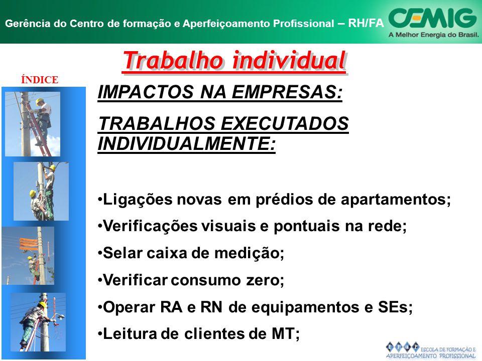 Trabalho individual IMPACTOS NA EMPRESAS: