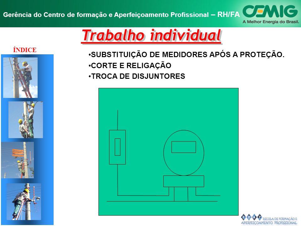 Trabalho individual SUBSTITUIÇÃO DE MEDIDORES APÓS A PROTEÇÃO.