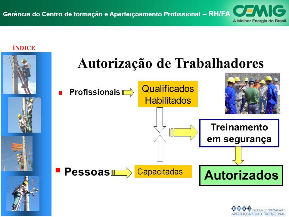 Autorização de Trabalhadores Treinamento em segurança