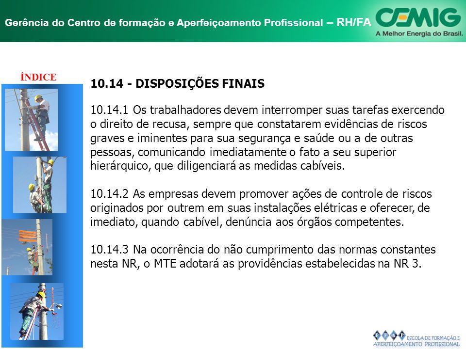 TÍTULO 10.14 - DISPOSIÇÕES FINAIS