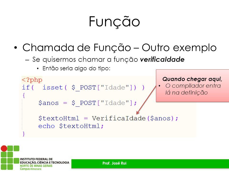 Função Chamada de Função – Outro exemplo