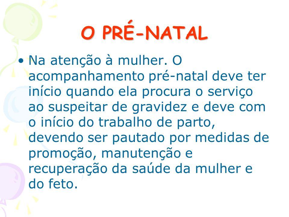 O PRÉ-NATAL