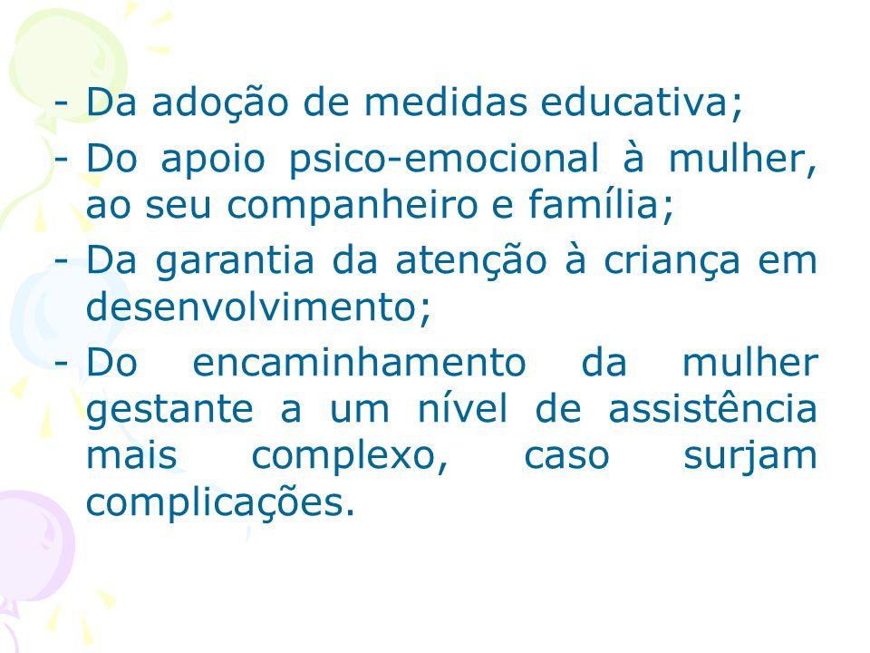 Da adoção de medidas educativa;