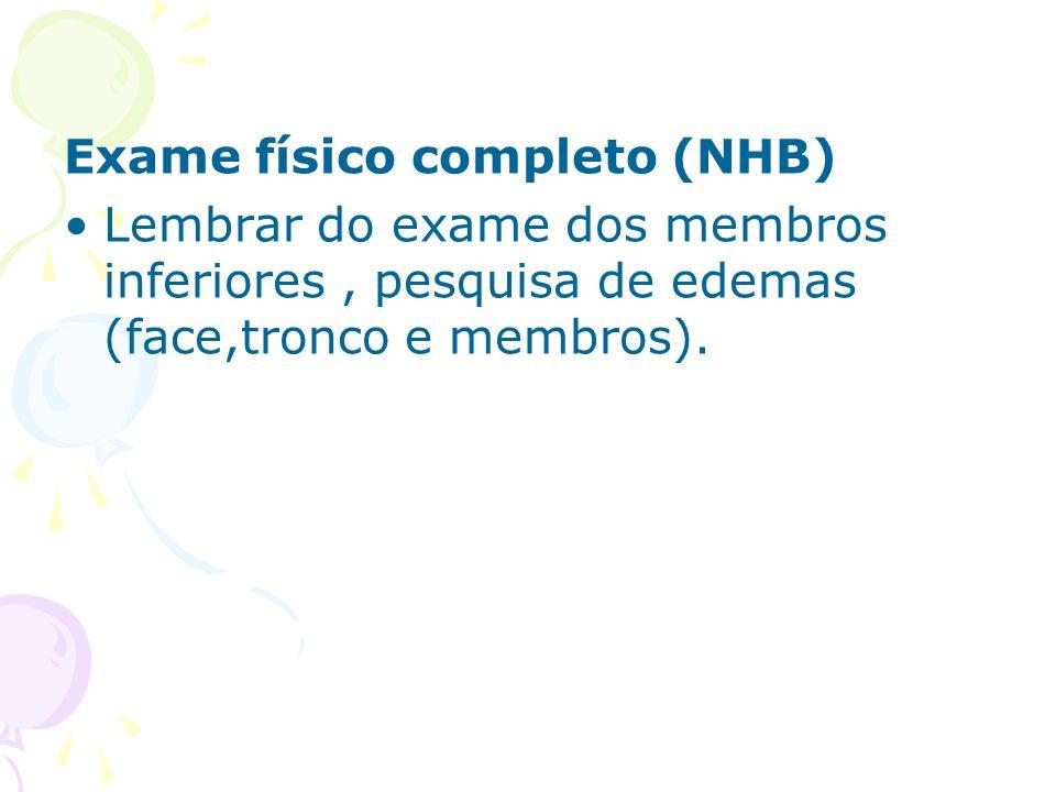 Exame físico completo (NHB)